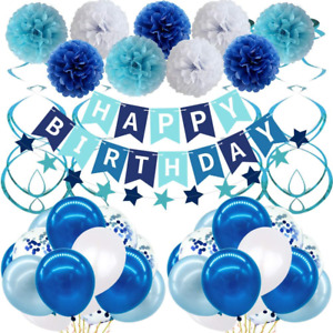 Birthday Decorations, Happy Birthday Decorations Party Supplies for Men Women -