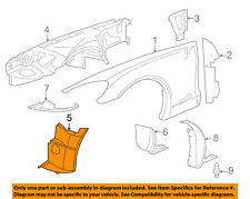 Chevrolet GM OEM 06-13 Corvette-Front Fender Liner Splash Shield Right 15834374