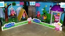 Peppa Pig Lot Of 2 Playsets! Camping Trip & Royal Picnic! NIB!