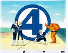 Vintage Fantastic Four animation cel marvel comics MAIN TITLE Opening Credits