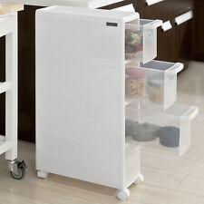 SoBuy® Badrollwagen, Nischenwagen, Schubladencontainer, weiß,FRG41-W