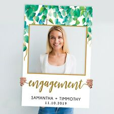 Wild Leaves Engagement Party Photo Booth Frame Prop (60 x 90 cm) Instagram