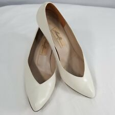 "VTG 90'S Womens 8 1/2 B Amalfi Shoes Leather Pump ""Olivia Porcelin Tuscan Italy"