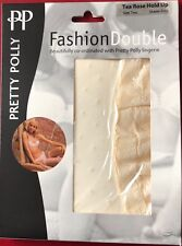 Pretty Polly Fashion Double Hold Up nylon Stockings size 2