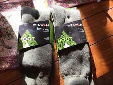 New Men's Wigwam Boot Merino Wool Socks 2 Pair Size Large Green 40 Below