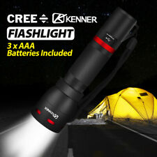 LED Flashlight Tactical Torch USB Rechargeable Work Light Camping Lamp Lantern