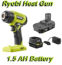 Ryobi P3150 18V ONE+ Lithium-Ion Cordless Heat Gun with 1.5 Ah Battery w Charger