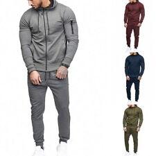 Herren Set Trainingsanzug Pullover Sweatshirt+Hosen Anzüge Kapuzepulli Mode