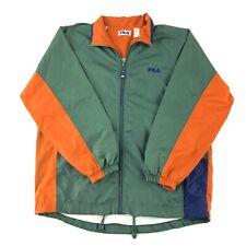 Vintage 90s Fila Windbreaker Jacket Men's Size 2XL Lined Colorblock Nylon Track