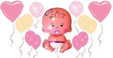 Huge Baby Girl Helium Balloon Bundle Newborn Girl Christening Baby Shower Party