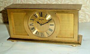 Vintage Swiza 8 jewels Swiss brass alarm clock - good condition & working order
