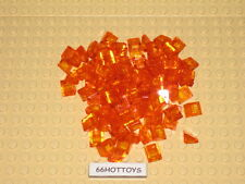LEGO Accessories 1x1 Orange Slopes TRANSLUCENT Orange x 100 New