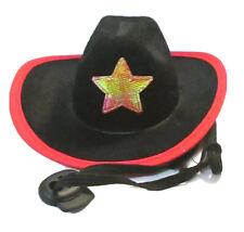 Rubie's Pet Shop Dog BLACK & RED Cowboy Hat Sz S/M Puppy Sheriff COSTUME Clothes