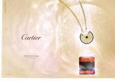 PUBLICITE ADVERTISING 035  2014  CARTIER  joaillier ( 2p)  AMULETTE