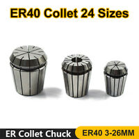 ER40 Collet All Sizes 3.0-26.0mm DIN6499B Quality Collets CNC Lathe Milling Tool