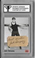 Jack Dempsey Sports Legends Facsimile Autograph Custom Cut Card