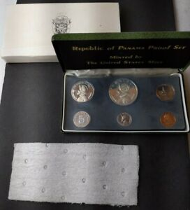 1973 Panama Proof Set of Coins