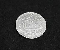 Morocco Maroc 1/2 Dirham Moulay Hassan 1st Alawite Silver Coin Islamic 1312AH