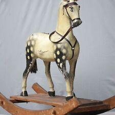 ANTIKES BIEDERMEIER SCHAUKELPFERD 1850 ROCKING HORSE HOLZPFERD CHEVAL BASCULE