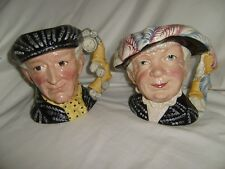 Royal Doulton PEARLY KING and PEARLY QUEEN Toby or Character Mugs D6759 & D6760