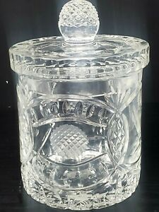 Rovelli Swiss Crystal Co. Tee Off Golf Crystal Ice Bucket Biscuit Jar w/Lid