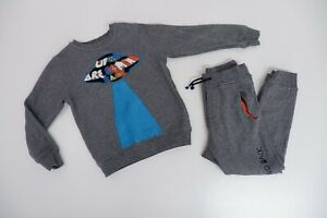 Kenzo Grey Tracksuit Boys Jumper & Bottoms Age 8 Years VGC