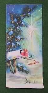 vintage 1960s Merry Christmas Greeting Card Christmas Star UNUSED holiday