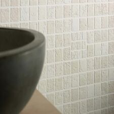 Contour Earthen Tile Effect Kitchen Bathroom Beige Wallpaper