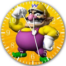 Wario Super Mario Frameless Borderless Wall Clock Nice For Gifts or Decor Z105