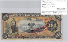 BILLET MEXIQUE - GOUVERNEMENT PROVISOIRE - 100 PESOS - 28.9.1914