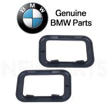 For BMW E30 Base Sedan Set of 2 Rear Covering Inside Door Handles Black Genuine