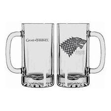 """Chope en verre Game of Thrones : Stark """"Winter is Coming"""" (Neuf)"""