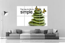 ZEN LIFE IS SIMPLE CLE DE LA VIE  Poster Grand format A0 Large Print