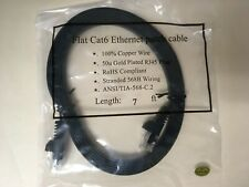Flat Cat6Ethernet patch cable - 7ft