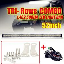"52INCH 3000W 10D Tri Row LED LIGHT BAR Spot Flood COMBO BOAT Driving VS 50"" 54"""