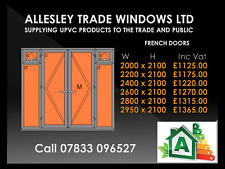 Anthracite Grey Upvc French Door With Opening Windows 2200 Wide By 2100 High