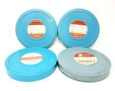 Lot of 4 Plastic 8mm Film Reel Case Shells Carsen Simpsons Sears Voyageur VTG