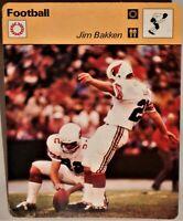 """Jim Bakken Kicking King 1978 NFL Football Sportscaster 6.25"""" Card 35-18 Framing"""