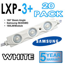 20 x LXP-3+ Samsung 5630 LED Sign Making Modules 160° Injection Moulded - White