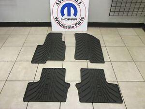 Dodge Caliber Dark Slate Gray All Weather Rubber Floor Mats NEW OEM MOPAR
