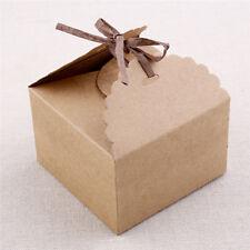 12x Vintage Geschenkbox Süßigkeiten Schokolade Box Packpapier Hochzeit Party Neu