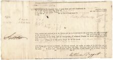 Schooner Fair Trader Bristol England Bill of Lading 1805, Geo. Newbold, New York