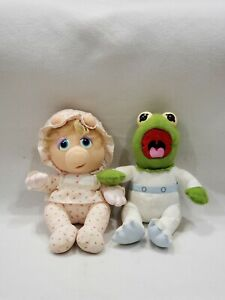 Vintage 1984 Muppet Babies PAMPERS Kermit & Miss Piggy Plush