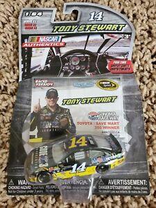 Tony Stewart 2016 NASCAR Authentics 1/64 Diecast - Raced Win Version Sonoma