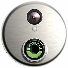 Alarm.com Skybell Silver Doorbell Night Vision 1080p Video Camera ADC-VDB101