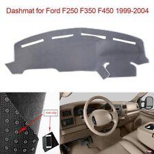 Grey Dashboard Mat Dash Cover Carpet For 1999-2004 Ford F250 F350 F450 Dashmat