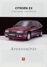 Citroën ZX Limousine Break Accessorie Zubehör Prospekt 8/95 1995 Citroen Auto