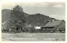 c1950 RPPC Postcard Forest Service Headquarters Etna CA Siskiyou Co Eastman 1495