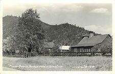 c1950 RPPC Postcard Forest Service Headquarters Etna CA Siskiyou Co Eastman 1495