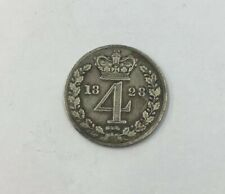 More details for antique george iii 1828 four pence silver coin